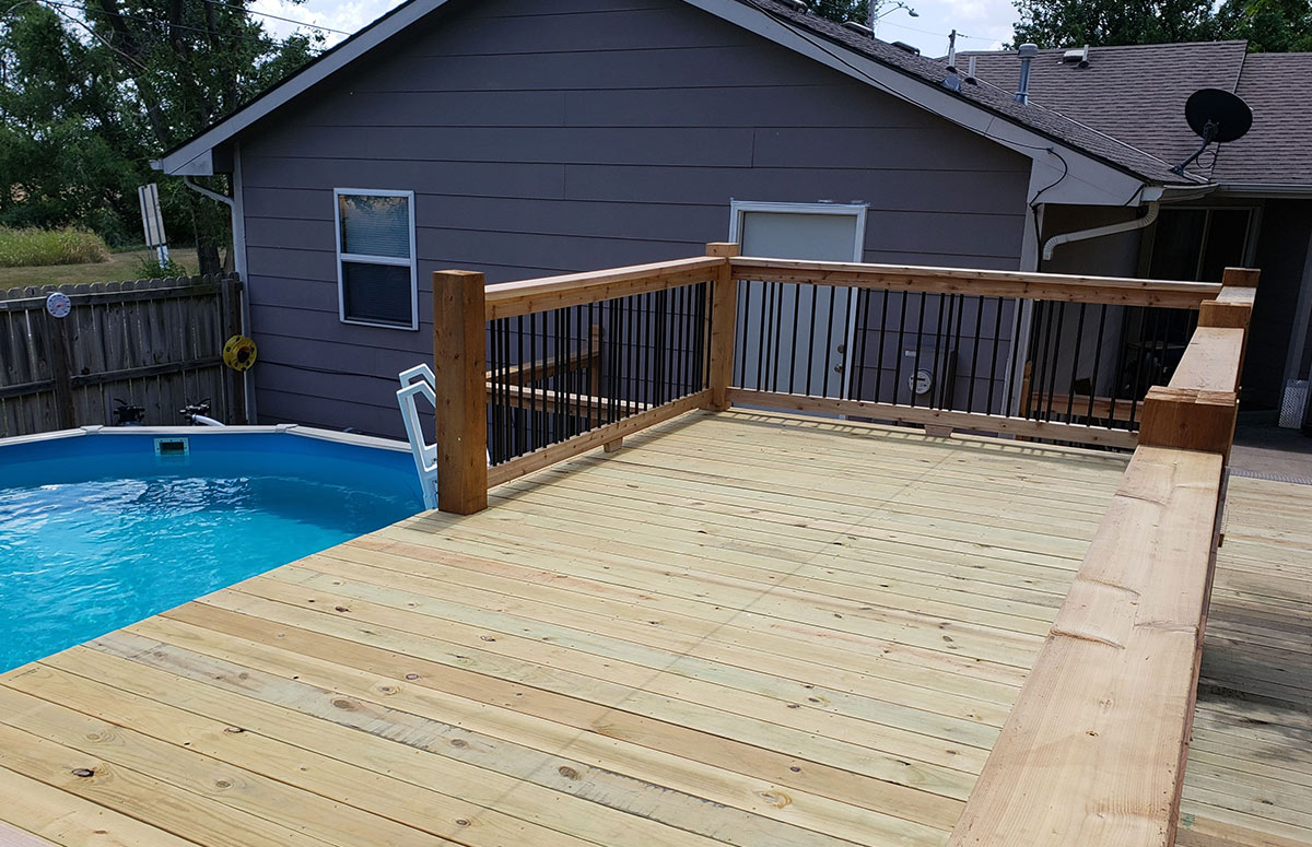 Deck Maintenance 101 - Cover or store away any furniture or other surfaces you may want protected from the sun and elements.