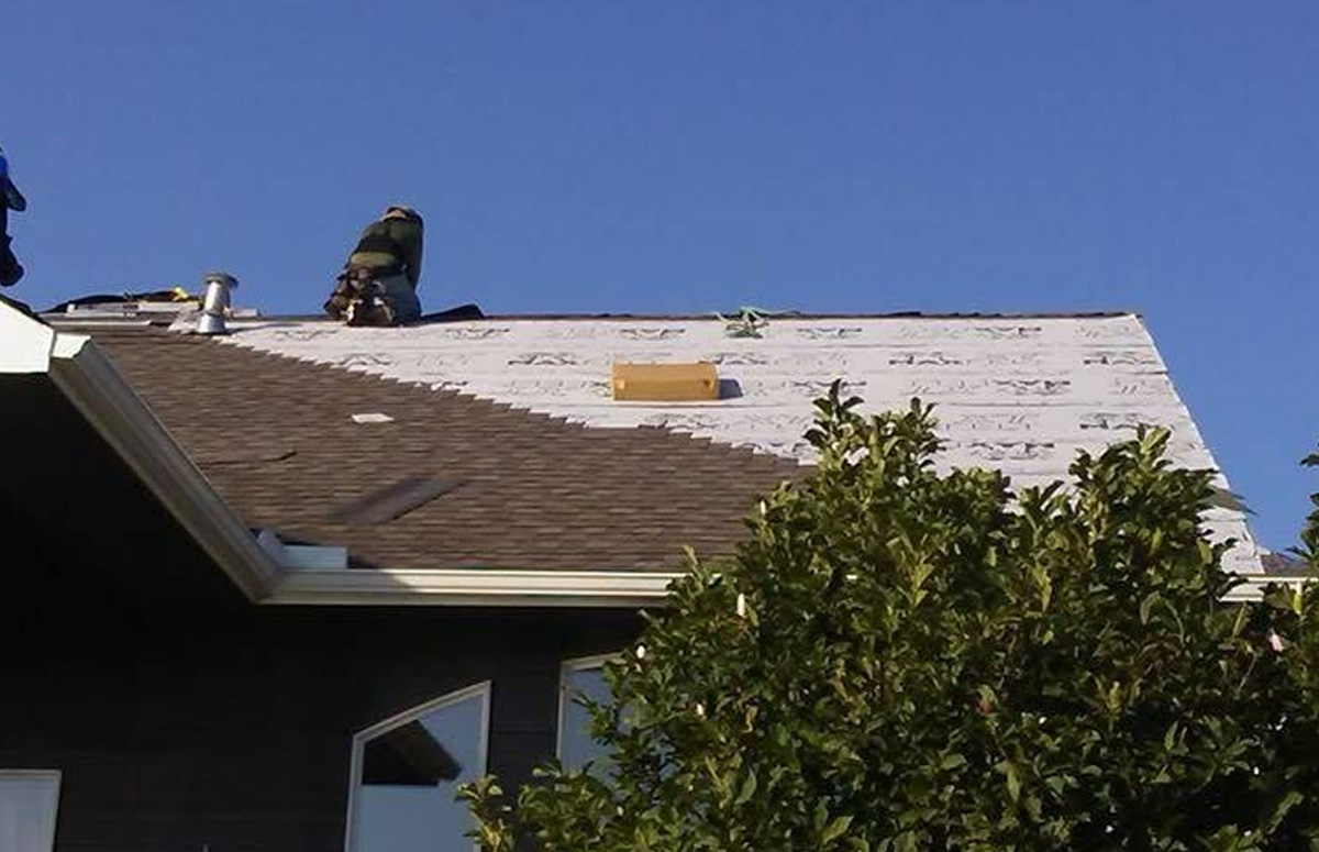 Roof leak repair on pitched roofs, flat roofs, roofs with skylights, and roofs with every type of tile, flashing, and guttering